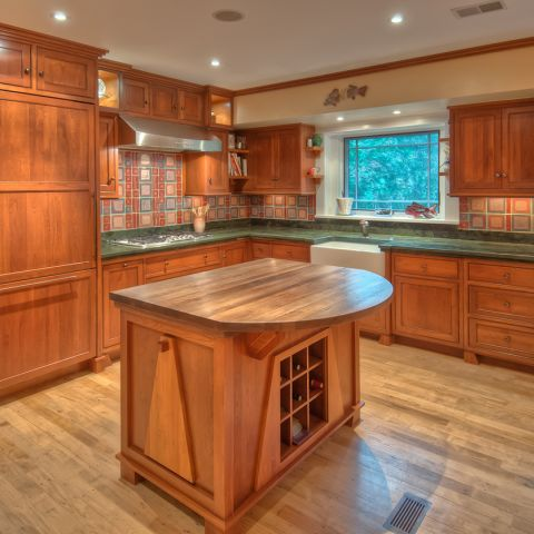 The Ballard home's new kitchen