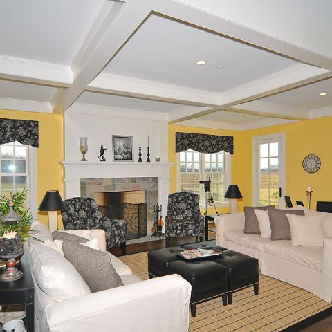 Cheery family room from Sugarland Lane project from Frank M Bell