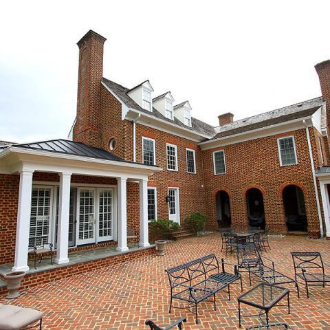Finalized brick patio for outdoor entertaining on Highland Farm Rd