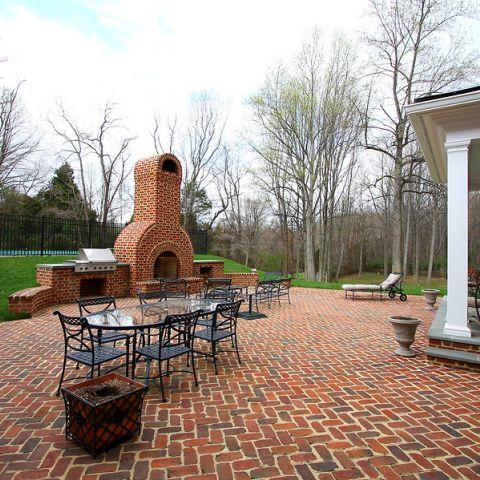 Outdoor dining area for the Ballard & Mensua job on Highland Farm Rd