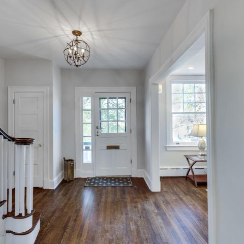 large foyer - historic charm in NW DC - Ballard & Mensua Architecture