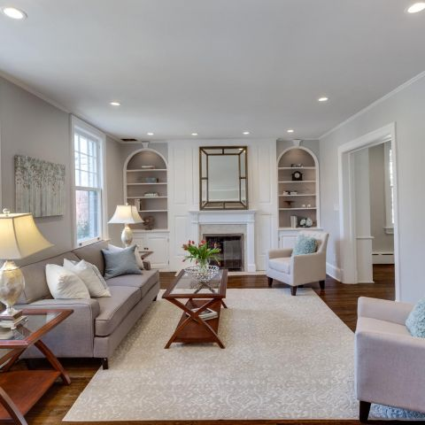 large family room - historic charm in NW DC - Ballard & Mensua Architecture