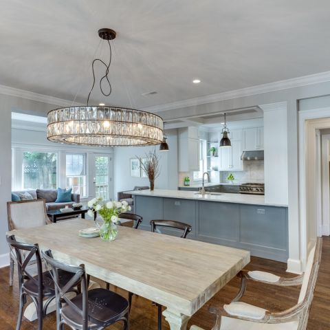 dining room with lighting detail - historic charm in NW DC - Ballard & Mensua Architecture