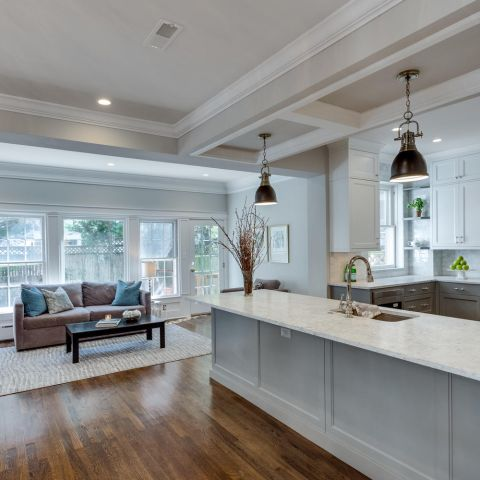 kitchen and sitting room - historic charm in NW DC - Ballard & Mensua Architecture