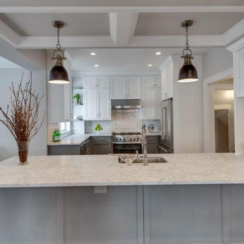 kitchen island and details - historic charm in NW DC - Ballard & Mensua Architecture