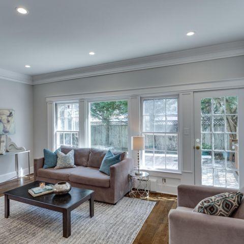 sitting room details - historic charm in NW DC - Ballard & Mensua Architecture