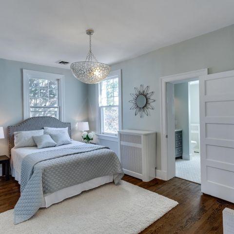 master bedroom - historic charm in NW DC - Ballard & Mensua Architecture