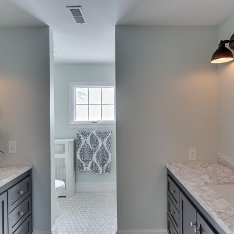 master bathroom - historic charm in NW DC - Ballard & Mensua Architecture