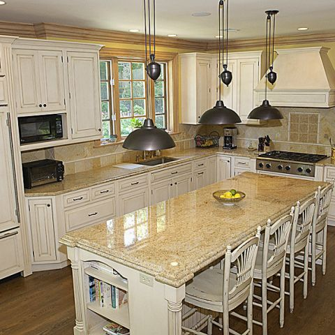 Large French style kitchen for the Greentree project with Ballard & Mensua and Frank Bell