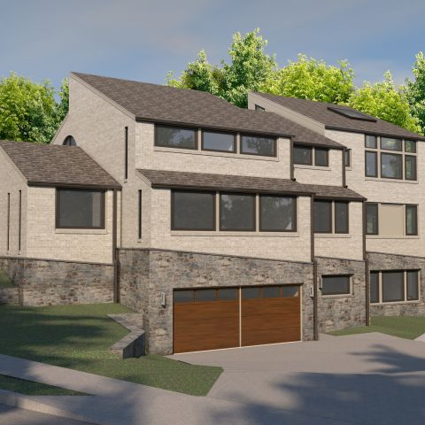 garage view of modern home from Ballard & Mensua