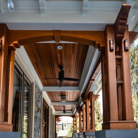 porch ceiling detail - carpenter's challege - Alison project