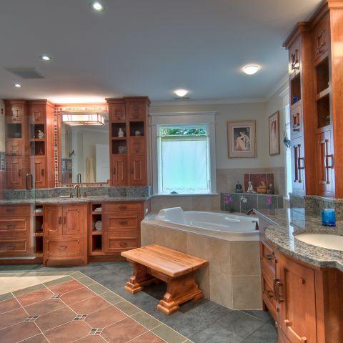 master bathroom vanities and tub - carpenter's challege - Alison project