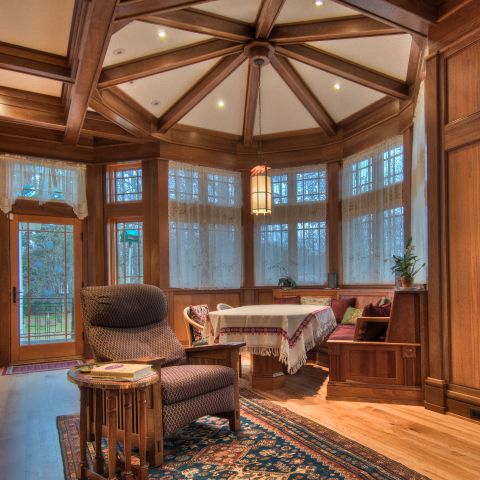 octagon breakfast room - carpenter's challege - Alison project