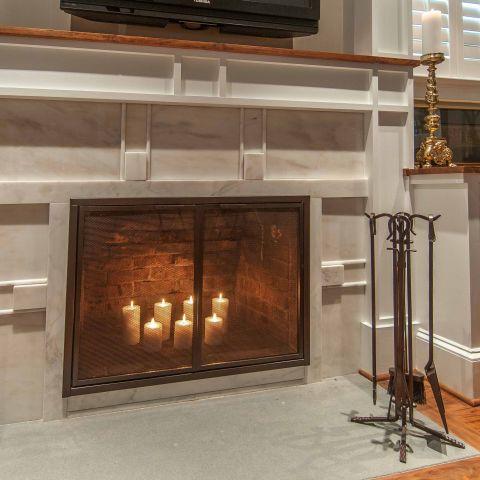 Bennington project - Little City rambler - fireplace detail