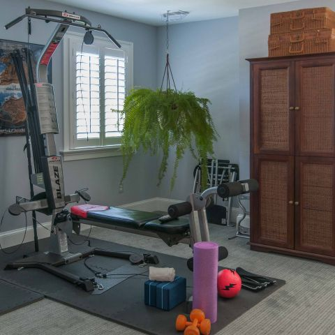 Bennington project - Little City rambler - home gym detail