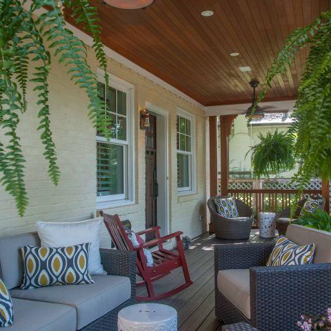 Bennington project - Little City rambler - front porch after
