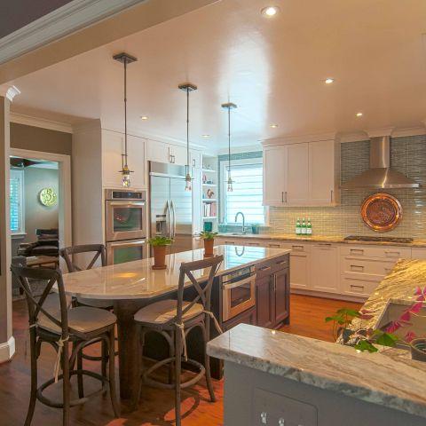 Bennington project - Little City rambler - kitchen towards living room