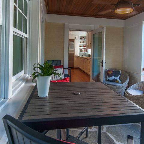 Bennington project - Little City rambler - screened-in back porch