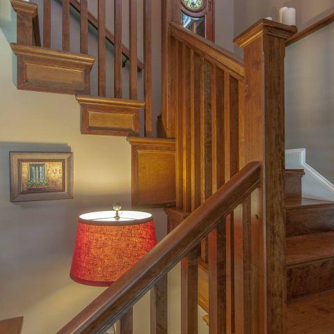Bennington project - Little City rambler - stairwell detail