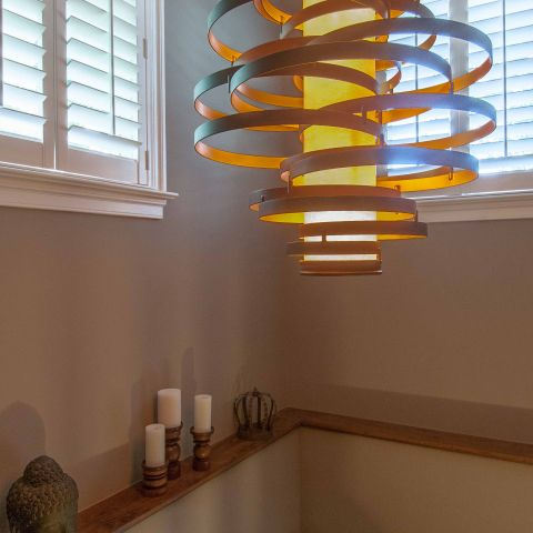 Bennington project - Little City rambler - stairwell pendant