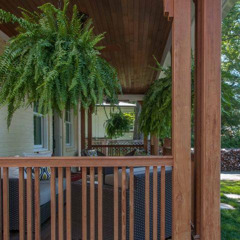 Bennington project - Little City rambler - Front porch detail