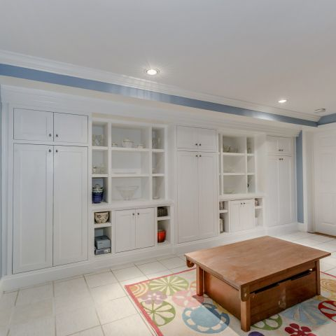 Builtins in the basement's rec room - The Shire of Spring Valley - Ballard & Mensua