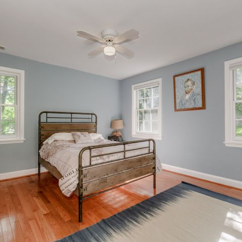 Guest bedroom towards front yard - The Shire of Spring Valley - Ballard & Mensua
