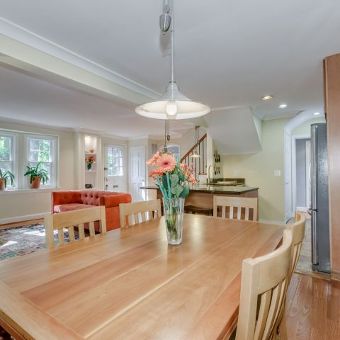the dining room table looking towards the foyer - The Shire of Spring Valley - Ballard & Mensua