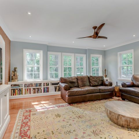 view of the family room from the kitchen - The Shire of Spring Valley - Ballard & Mensua