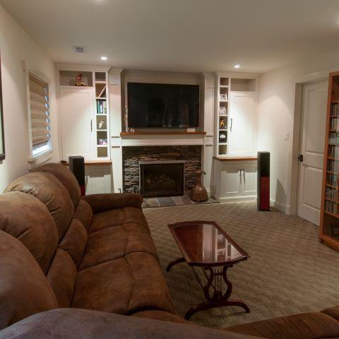 basement rec room - Vienna split level renovation - Boswell project