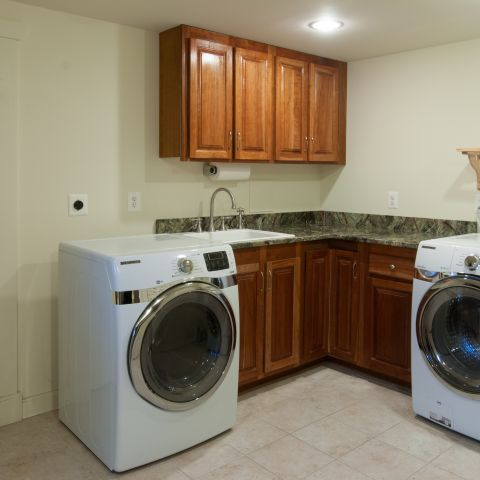 laundry room update - Vienna split level renovation - Boswell project