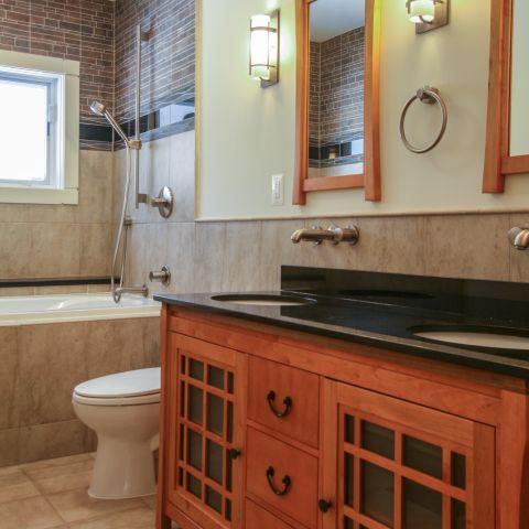 hall bathroom details - Modern home makeover - Carr Baron project