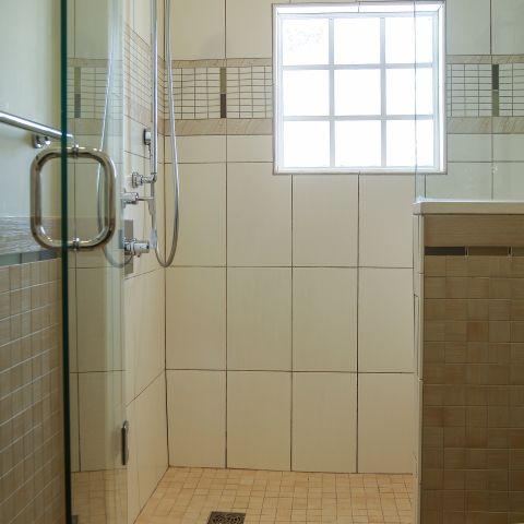 bathroom shower tile detail - Modern home makeover - Carr Baron project
