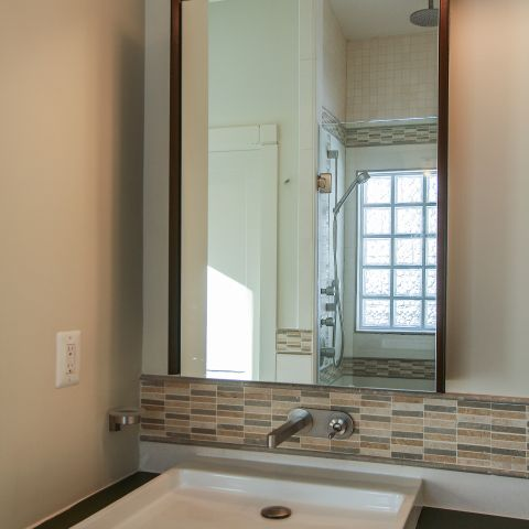 bathroom vanity detail - Modern home makeover - Carr Baron project