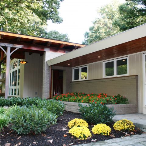 exterior front - Modern home makeover - Carr Baron project