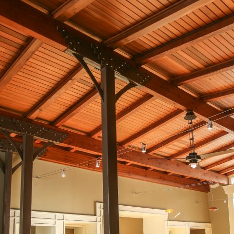 timber ceiling in living room - Modern home makeover - Carr Baron project