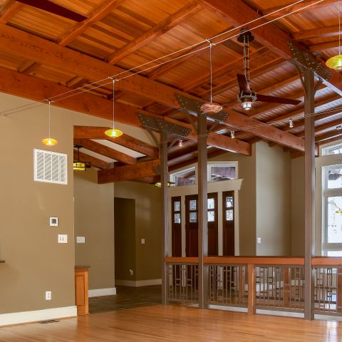 living room ceiling detail - Modern home makeover - Carr Baron project