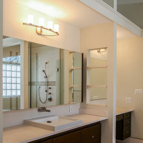 master bathroom vanity - Modern home makeover - Carr Baron project