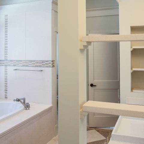 master bathroom tub detail - Modern home makeover - Carr Baron project