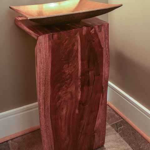 powder room vanity detail - Modern home makeover - Carr Baron project