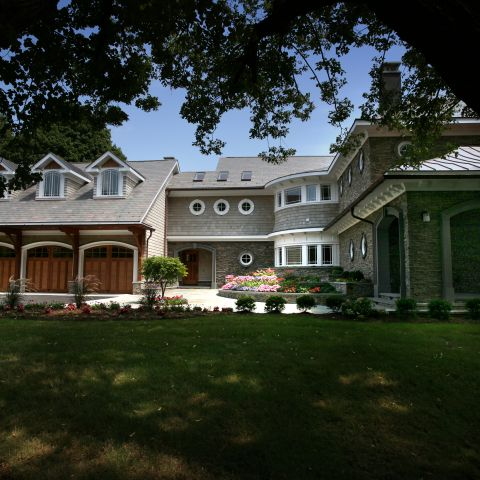 Carr project - nautical New England waterfront home - front