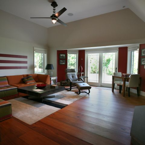 Carr project - nautical New England waterfront home - family room after