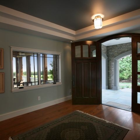 Carr project - nautical New England waterfront home - entryway foyer