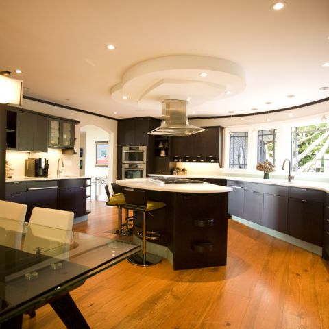 Carr project - nautical New England waterfront home - kitchen after
