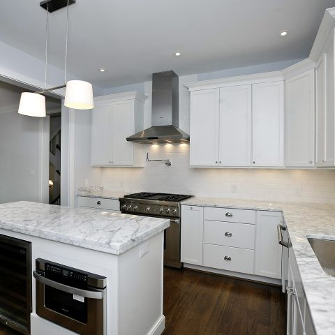 white kitchen view - Clarendon bungalow - Cima project