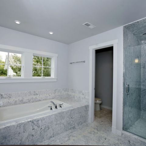 master bathroom and shower detail - Clarendon bungalow - Cima project