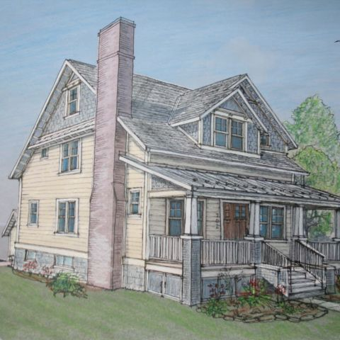 Cima project - clarendon bungalow - rendering of front