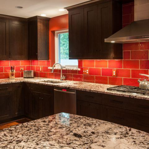 Cole project - craft style mid-century split level - kitchen island