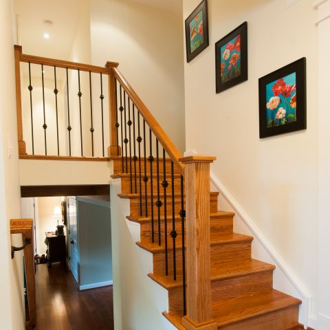 Cole project - craft style mid-century split level - stairway after