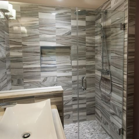 Cruzan project - Island rambler renovation - master bathroom
